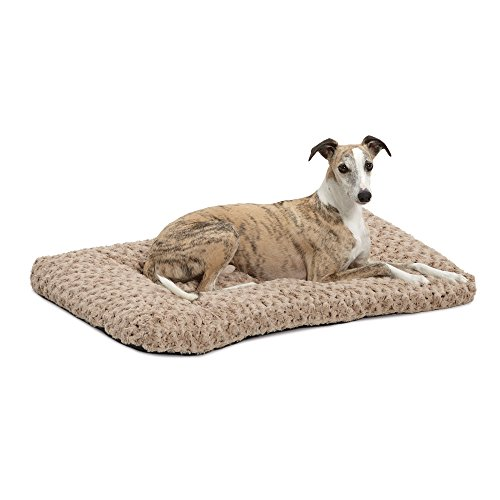 MidWest Homes for Pets Plush Dog Bed | Ombré Swirl Dog Bed & Cat Bed | Mocha 35L x 23W x 2H – Inches for Med./Large Dog Breeds