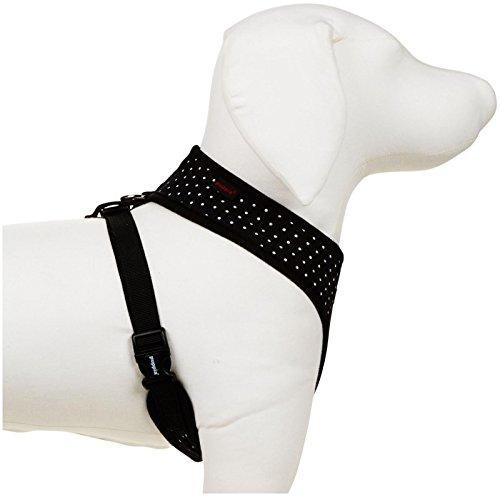 Puppia Dotty Harness A, Medium, Black