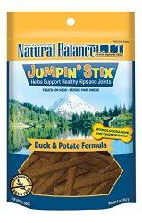 Natural Balance L.I.T. Limited Ingredient Treats Jumpin' Stix Dog Treats, Grain Free, Duck & Potato Formula, 5-Ounce