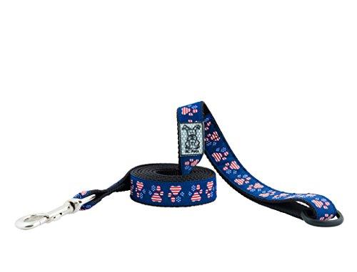 RC Pet Products 1″ x 6′ Dog Leash, Patriotic Paws