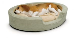 K&H Pet Products Thermo-Snuggly Sleeper Heated Pet Bed Medium Sage 26″ x 20″ 6W
