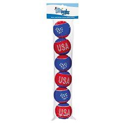 Grriggles Stars and Stripes Tennis Balls for Dogs (6 Pack)