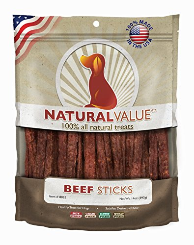 Loving Pets Natural Value All Natural Soft Chew Beef Sticks for Dogs, 14-Ounce