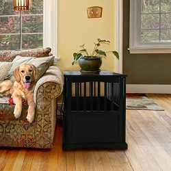 Casual Home 600-22 Wooden Pet Crate, Black, 27″ H