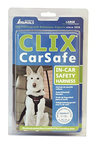 The Company of Animals – CLIX CARSAFE Dog Harness – Multi-Purpose Car Seat Belt and Walking Harness – Easy, Adjustable, Secure and Safe – Large