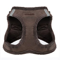 Voyager Soft Harness for Pets – No Pull Vest, Best Pet Supplies, Medium, Chocolate Suede