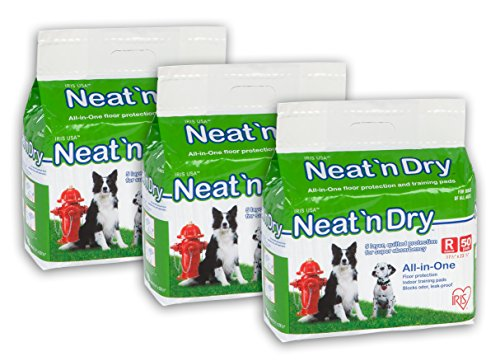 IRIS Neat 'n Dry Premium Pet Training Pads, Regular, 17.5″ x 23.5″, 150 Count