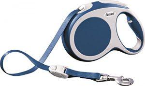 Flexi Vario Retractable Dog Leash (Tape), 26 ft, Large, Blue