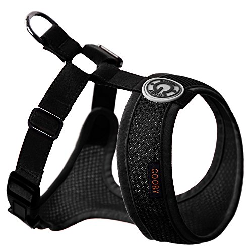 Gooby Choke Free Freedom Mesh Harness Specially Made for Small Dogs, X-Small, Black