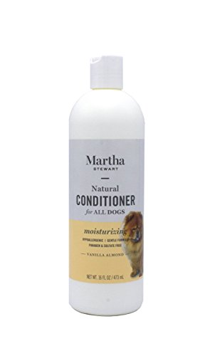 Martha Stewart Moisturizing Conditioner for Dogs | Best Conditioner For Dogs and Puppies With Dry, Sensitive Skin, All Natural and Hypoallergenic, 16 ounces