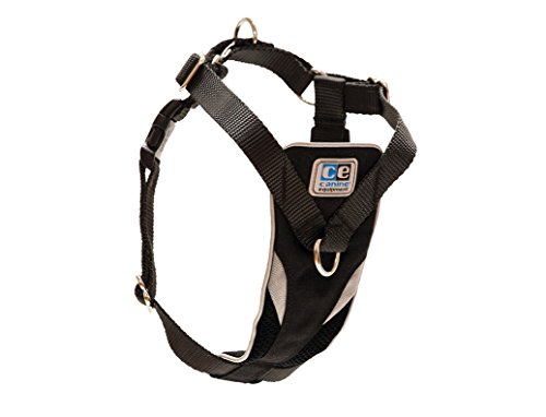 Canine Equipment Ultimate Control Dog Harness, Large, Black