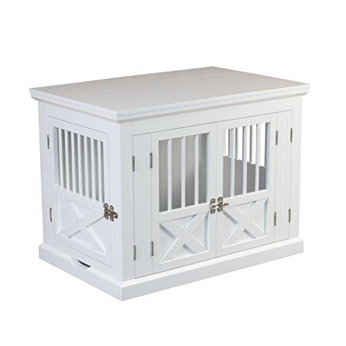 zoovilla PTH0662020110 Triple Door Dog Crate, Medium, White