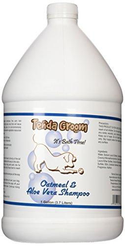 Tenda Groom Oatmeal and Aloe Vera Dog Shampoo, Gallon