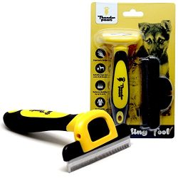 Thunderpaws Best Professional De-Shedding Tool and Pet Grooming Brush, D-Shedz for Breeds of Dogs, Cats with Short or Long Hair, Small, Medium and Large
