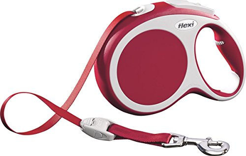 Flexi Vario Retractable Dog Leash (Tape), 16 ft, Large, Red