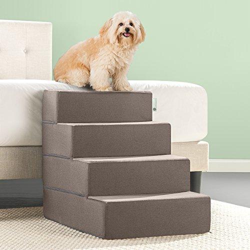 Zinus Easy Pet Stairs/Pet Ramp/Pet Ladder, Sand