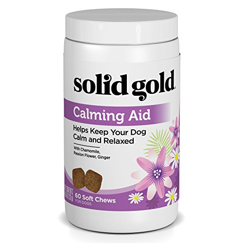 Solid Gold Dog Supplement Calming Aid; Grain Free Chews with Chamomile, 60ct
