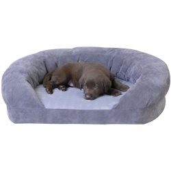 K&H Pet Products Ortho Bolster Sleeper Pet Bed Medium Gray 30″