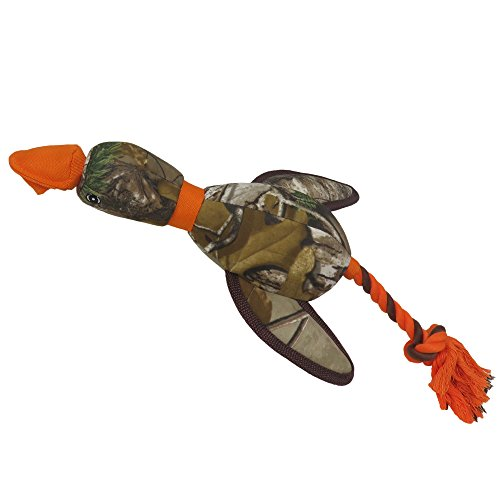 Realtree Mallard Sling-Shot Dog Toy. Best Licensed Tough Floating Toy for Dogs & Cats. Fun & Durable Pet Toy