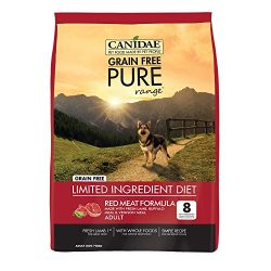 CANIDAE Grain Free Pure Range Dog Dry Red Meat Formula Fresh Lamb, Buffalo Meal, Venison Meal, 24 lbs
