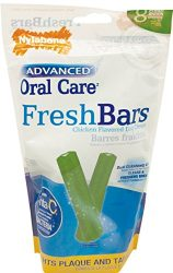 Nylabone Advanced Oral Care Regular Fresh Bar Dog treats, 8 count