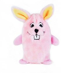 ZippyPaws – Squeakie Buddie No Stuffing Plush Dog Toy – Bunny, Pink