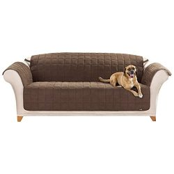 Sure Fit Quilted Pet Throw  – Sofa Slipcover  – Chocolate (SF37470)