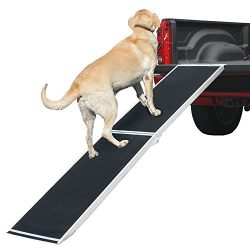 Rage Powersports DR-06XW Extra Wide Folding Aluminum Pet Ramp (72″ Lightweight)