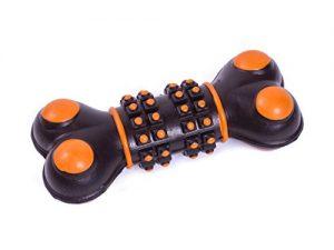 Petface Dog Toy, Tough Tread Bone, Black and Orange