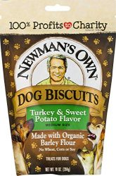 Newman's Own Dog Biscuits, Turkey & Sweet Potato – Breakable, 10-oz. (Pack of 6)