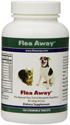 Flea Away All Natural Flea Repellent for Dogs and Cats, 100 Chewable Tablets, 2-Pack