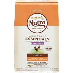 Nutro Wholesome Essentials Adult Dry Dog Food Small Bites Farm-Raised Chicken, Brown Rice & Sweet Potato Recipe, 30 lb. Bag