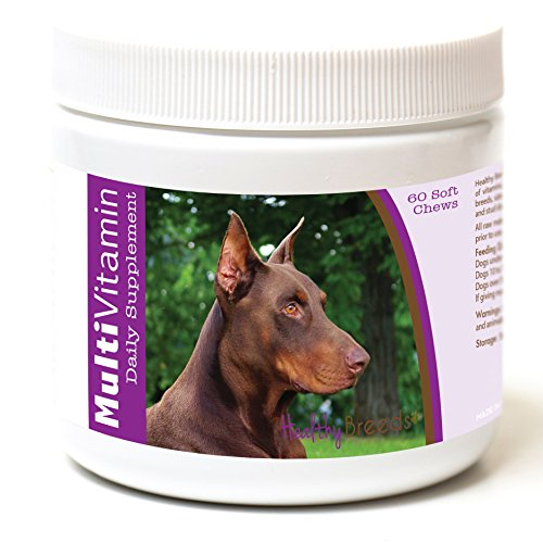 Healthy Breeds Dog Daily Supplement Soft Chews for Doberman Pinscher, Brown- Over 200 Breeds – for Small Medium & Large Breeds – Easier Than Liquid or Powders – 60 Chews