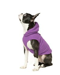 Gooby Every Day Fleece Cold Weather Dog Vest with Hoodie for Small Dogs, Purple, X-Small