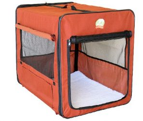 Go Pet Club AB43 Soft Dog Crate, Brown – 48 inches L x 28 inches W x 32 inches H