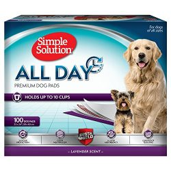 Simple Solution All Day Premium Dog and Puppy Pads with lavender Scent, Large – 100-Count