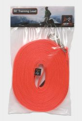 LupinePet Basics 3/4″ Blaze Orange 30-foot Extra-Long Training Lead/Leash for Medium and Larger Dogs