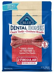 Blue Dental Bones Adult Regular Dental Chew Dog Treat 27-oz Value Pack