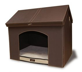 Ooboo Designs Pet Haven Indoor Pet House, Brown, 21″/Small