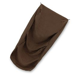 "SUEDE COVER for 4-Step Doggie Stairs for Small Dogs Cats- Fits Best Pet Supplies (24"" x 15"" x 19"") Foam Pet Steps- Machine Washable Covers- Anti Slip Base- Ultra Plush Supplies for Dog Furniture (Dark Brown)"
