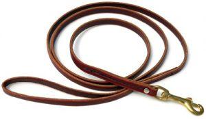 Signature K9 Standard Leather Leash, 6-Feet x 1/2-Inch, Burgundy