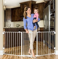 Regalo 76-Inch Super Wide Metal Configurable Baby Gate, Includes 4 Pack of Wall Mounts