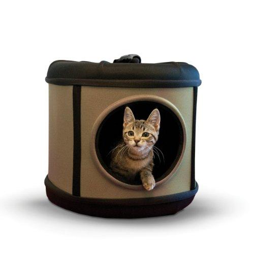 K&H Pet Products Mod Capsule Carrier & Shelter  Tan/Black 17″ x 17″ x 15.5″