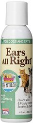 Ark Naturals Ears All Right Gentle Ear Cleansing Lotion for Dogs, Relieve Issues with Infection, Allergies, Odor and Wax, Natural Botanical Formula, 4 oz Bottle