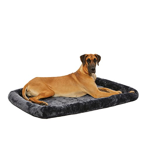 MidWest Quiet Time Pet Bed, Gray, 54″ x 37″