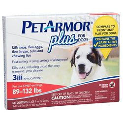PetArmor Plus Flea & Tick Prevention for Extra Large Dogs with Fipronil (88 to 132 Pounds), 3 Monthly Treatments
