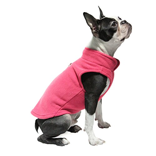 Gooby Every Day Fleece Cold Weather Dog Vest for Small Dogs, Pink, X-Small