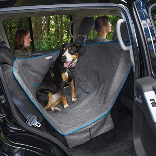 Kurgo Heather Half Dog Hammock Style Seat Cover for Pets, Pet Seat Cover, Dog Car Hammock – Waterproof, Heather Charcoal