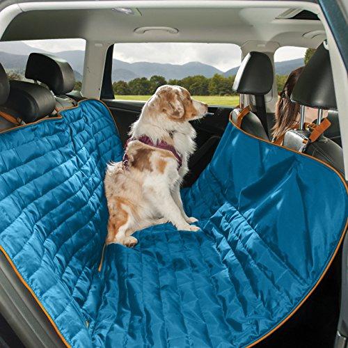 Kurgo Waterproof Reversible Loft Hammock Style Dog Car Seat Cover, Pet Seat Cover, Blue/Orange