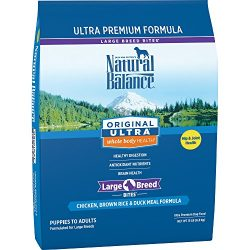 Natural Balance Large Breed Bites Dry Dog Food, Original Ultra Whole Body Health, Chicken, Brown Rice, Duck Meal Formula, 15-Pound